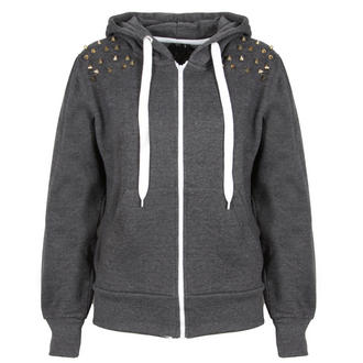 View Item Grey Spiked Shoulder Hoody